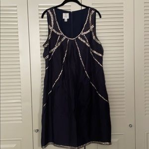 Suzi Chin for Maggy Boutique 14 navy blue dress